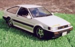 ISD-08 Initial D Levin AE85 1500SR 1/24 Scale Kit by Fujimi