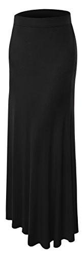 AM CLOTHES Womens Plus Size Floor Length Maxi Skirt