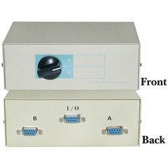 (QualConnectTM AB 2 Way Switch Box, DB9 Female)