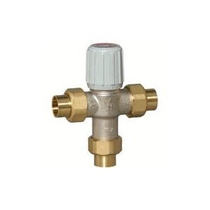 1/2 inch Union Sweat Proportional Thermostatic Mixing and Diverting Valve by Honeywell