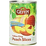 Gefen Yellow Cling Peach Slices In Light Syrup KFP 15 Oz. Pk Of 6.