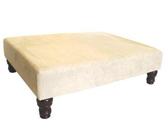 Footstools u tavolino sgabello imbottito in tessuto di una pietra