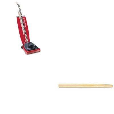 KITBWK124EUKSC684F - Value Kit - Boardwalk Tapered End Broom Handle (BWK124) and Commercial Vacuum Cleaner, 16quot; (EUKSC684F) by Boardwalk