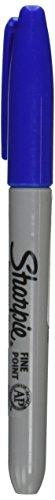 Sharpie Fine Point Permanent Blue Ink Marker (Sharpie Permanent Marker Blue Ink)