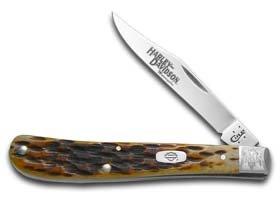 Slimline Trapper (Case Harley-Davidson 52153 Slimline Trapper 61048 SS Antique Bone Knife)