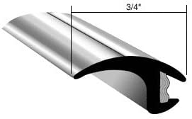 Gold//Black 2 3//8-inches x 26 ft Flexible Body Side Molding Trim Universal