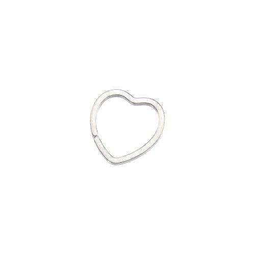 Beautiful Sterling silver 925 sterling Heart Shape Key -