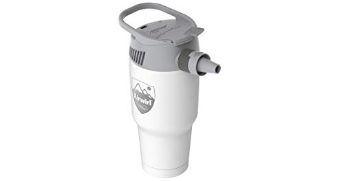 (AIRWIRL Personal Cooling & Heating System- Portable Aircon- with Air Tube (White Snow))