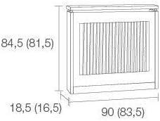 TOP KIT Wengu/é Cubre radiador Cristian 3090-90 x 84 x 18