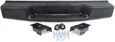 Step Bumper Compatible with 1998-2004 Chevrolet Blazer/GMC Jimmy/Oldsmobile Bravada Assembly Powdercoated Black Steel