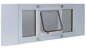 Ideal Sash Window Pet Door Cat Flap White - Flap size 6-1/4