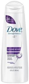 Dove Volume Boost Shampoo, 12 oz, 2 pk