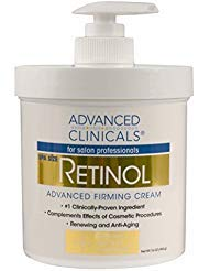 Advanced Clinicals Retinol Cream. Spa Size for Salon Professionals. Moisturizing Formula Penetrates Skin to Erase the Appearance of Fine Lines & Wrinkles. Fragrance Free. (16 Ounce)