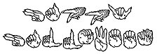 Happy Halloween Fingers Rubber Stamp -
