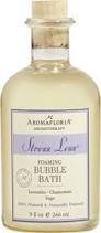 (AromaFloria Aromatherapy Stress Less Foaming Bubble Bath with Lavender Chamomile and Sage, 9 fl. oz.)