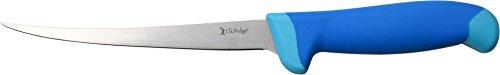 Elk Ridge ER-200-05F - Cuchillo de Filete Fijo de Acero Inoxidable 5CR15 de 16,5 cm, Mango de Goma de overmold de 32,5 cm