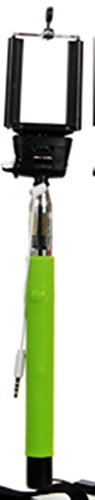 Selfie Stick Friend with Cord & Button, Camera/smart Phone Boom Arm, Green ()