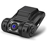 """MiKiZ Dash Cam FHD 1080P Car Camera Recorder 2.45"""" LCD 170 Degree Wide Angle Dashboard Car DVR with Sony Video Sensor WDR G-Sensor Loop Recording and Motion Detection"""