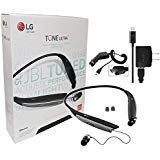 By JBL - LG Tone Ultra 820 Black Bluetooth Wireless Stereo Headset with LG Wall Charger and Car Charger (Renewed) (Lg Tone Earbuds Hbs800)
