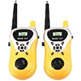 WON BRAND Walkie Talkie Set for Kids with Extendable Antenna for Extra Range, Multi Color