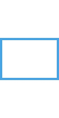A1 Flat Notecards (3 1/2 x 4 7/8) - Pool Blue Border Cards (1000 Qty.) by Envelopes Store
