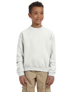 Jerzees 8 oz Youth Sweatshirt (562B) Available in 16 Colors Small White