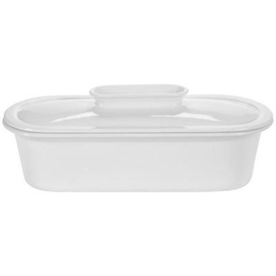 Dura 230 White Porcelain Lidded Terrine With Draining Insert (1.9 Litre)