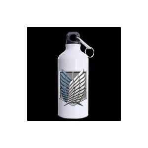 LaHuo Attack On Titan Wings Window Sports Travel Water Bottle Hiking Tea Cup Coffee Mug 13.5 OZ