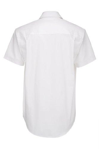 Kurzarm Popelin Hemd, Farbe:White;Größe:S S,White