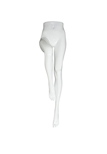 Newtech Display MAF-A5-06/SWHT UPSIDE DOWN FEMALE LEG FORM, Base Not Included, 54'' Height, 24.5'' Waist, Shiny White by Newtech Display