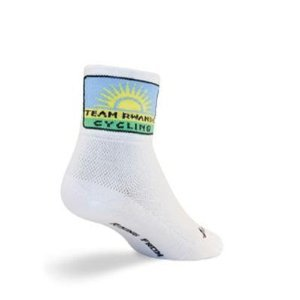 SockGuy Classic 3in Team Rwanda Cycling/Running Socks (Team Rwanda - ()