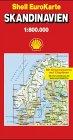 Skandinavien. Dänemark Schweden Norwegen 1   1 500 000   1   750 000.  Die Große Shell Autokarte