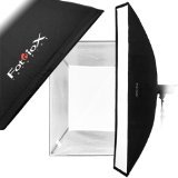 Fotodiox Pro Strip Softbox 12x80'' with Eggcrate Grid and Speedring for Alien Bees Strobe Light B400, B800, B1600