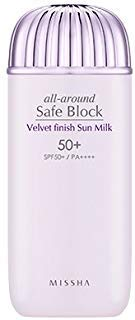 ([Missha] All Around Safe Block Velvet Finish Sun Milk SPF50+ PA++++ 70ml)