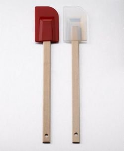 (SiliconeZone Medium Wood Spatula, Translucent)