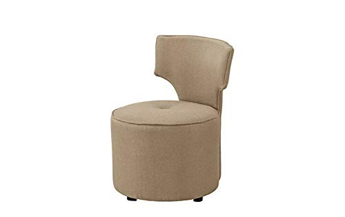 Monowi Contemporary Retro Style Chair Round Upholstered Accent Chair Furniture (Beige) | Model CCNTCHR - 163
