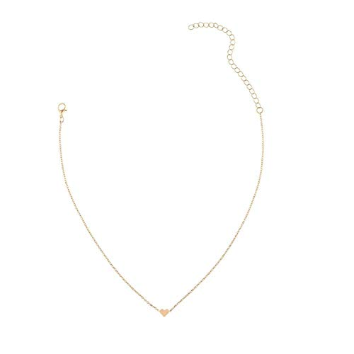 2f3c667e62 JIEPING Love Heart Choker Necklace Silver Gold Plated Collar Chain  Christmas gift shop