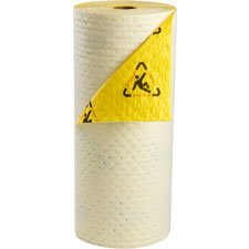 Sorbent Products Company CHBB30 High Visibility Barrier Backed Series Roll, Polypropylene, 30'' x 100', Yellow by Sorbent Products Company