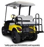 Madjax 01-012 Genesis 150 Rear Flip Seat Kit for 2007-Up Yamaha G29/''Drive'' Golf Carts Oyster Cushions