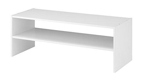 "Whitmor Stackable 31"" Extra Wide 2-Shelf Storage Organizer,"
