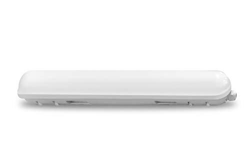 Bright White 1-pack LLT LED Garage Vapor Proof Fixture 2ft 18W 4000K IP66