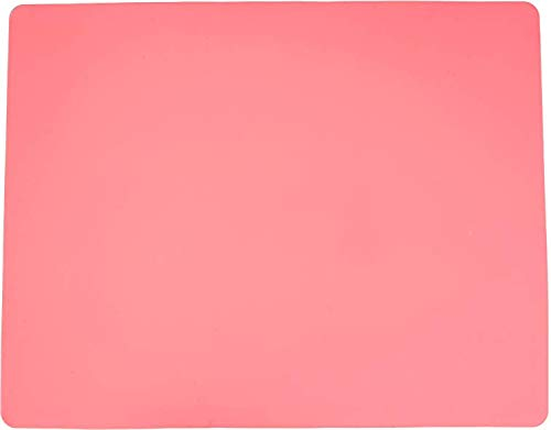 Silicone Baking Mat for Dough Rolling Pastry Fondant Mat Large Nonstick and Nonskid Heat Resistent, Countertop Protector, Dining Table Mat and Placemat 20'' by 16' (Without Measurements, Pink) by LONGFITE