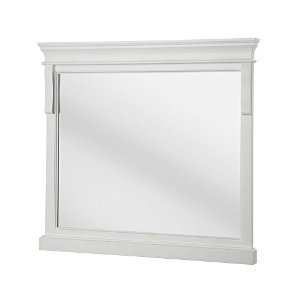 Pegasus Naples 36 in. x 32 in. Framed Wall Mirror in White