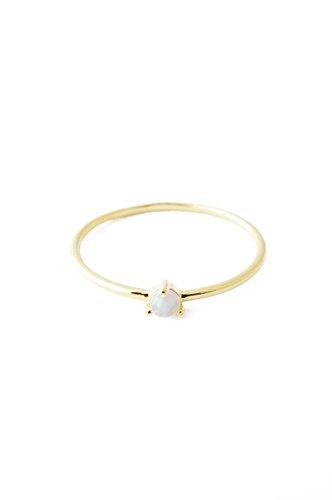 HONEYCAT Opal Orb Crystal in 24k Gold Plate | Minimalist, Delicate Jewelry (Gold 7)