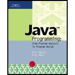 Java Programming, Nair, K. M. and Malik, D.S., 0619216352