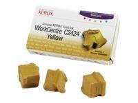 Solid C2424 Ink Yellow (GENUINE XEROX WORKCENTRE C2424 SOLID INK YELLOW (3 STICKS), 108R00662 Computer, Electronics)