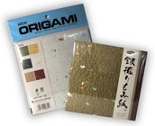 Aitoh Origami Ginburi Momigami Washi Paper, 6 X 6 inch Squares, 12 Sheets, Assorted Colors (83-0669)