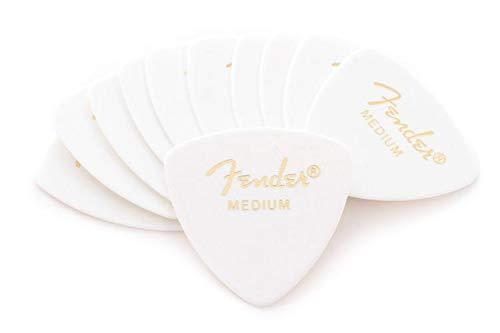 Fender 346 Shape Classic Celluloid Picks - Medium White 12-pack