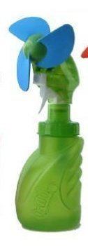 O2 Cool 2059 Squeeze Breeze Misting Fan Green