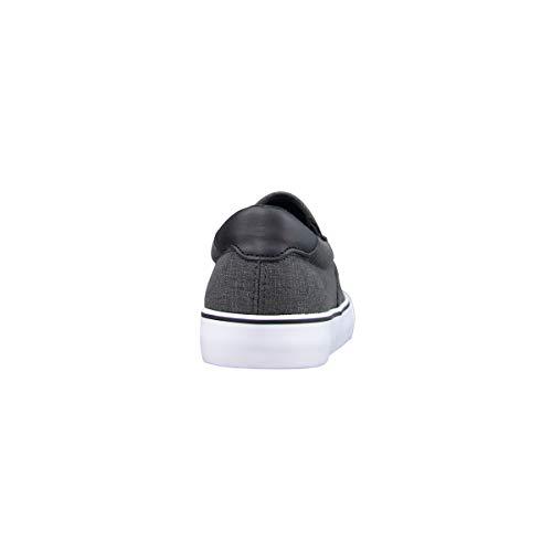 Lugz Men's Clipper Classic Slip-on Fashion Sneaker, Black/White/Gum, 9
